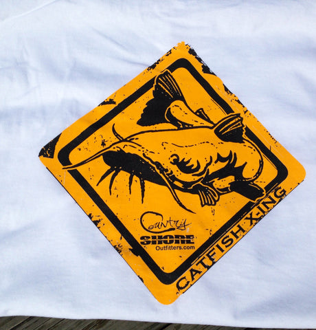Catfish Crossing Series Short Sleeve Tee with Pocket