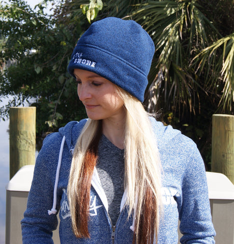 Heathered Knit Country Shore Beanie - Navy