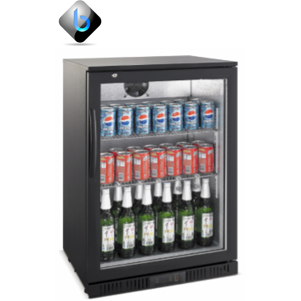 Back Bar Bottle Cooler Single Door (Black)