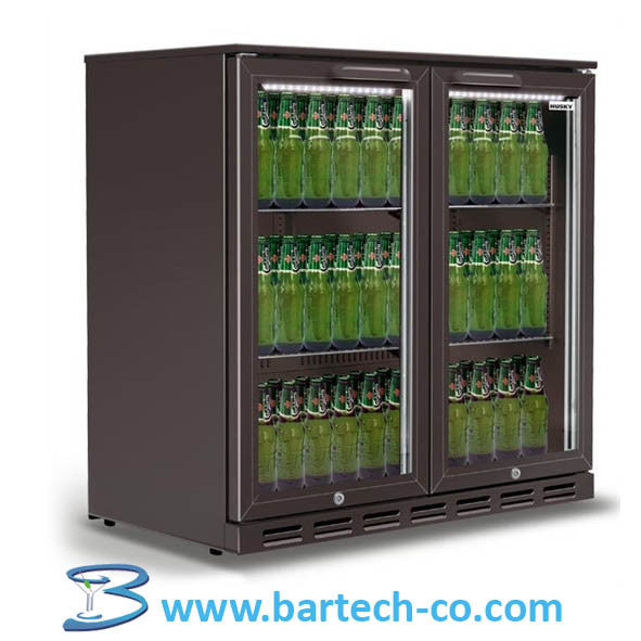 Back Bar Bottle Cooler Under Counter 2 Door -220-240V - 50Hz- Sliding