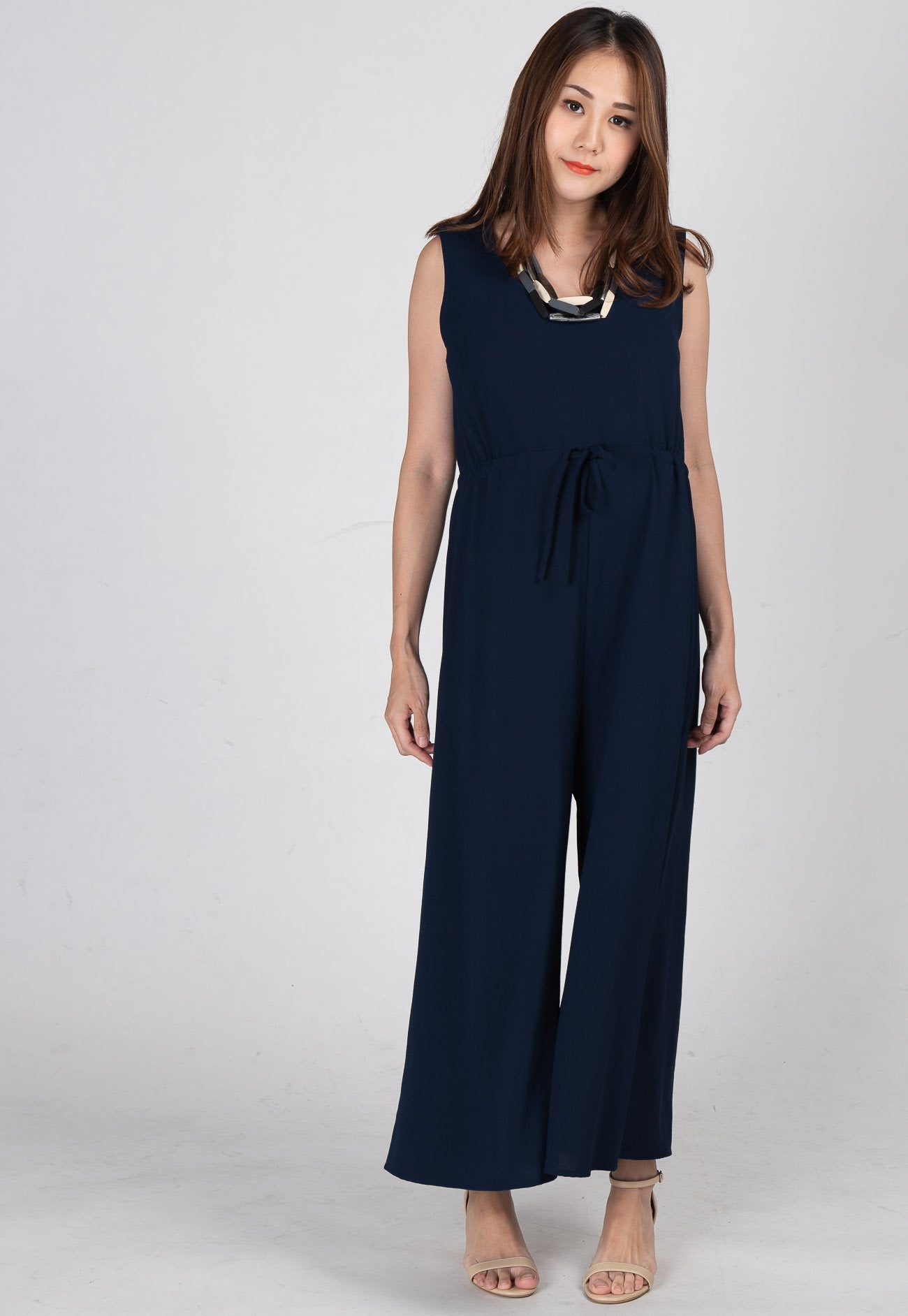 Ariella Nursing Jumpsuit in Dark Blue  by Jump Eat Cry - Maternity and nursing wear