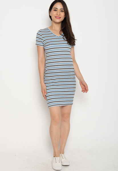 Paige Bodycon Nursing Dress in Blue