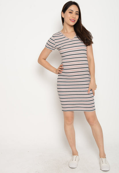 Paige Bodycon Nursing Dress in Pink