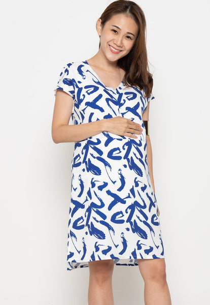 Amora Printed Nursing Dress