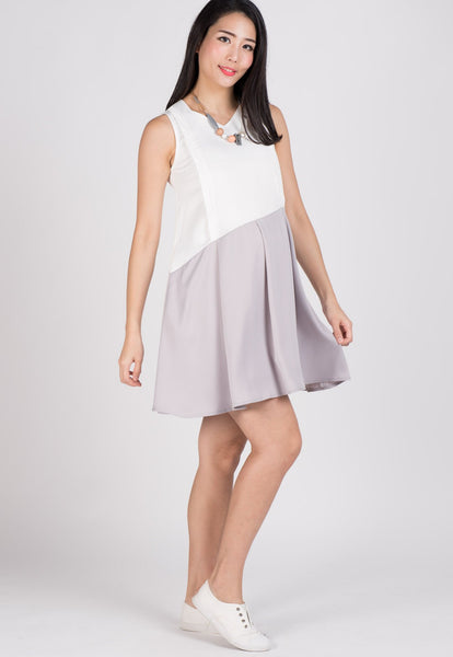 Mila Pleated Nursing Dress