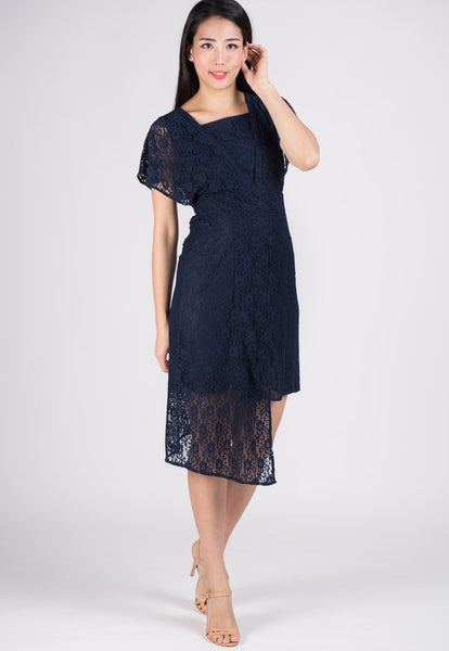 SALE Lace Hi Low Hem Nursing Dress