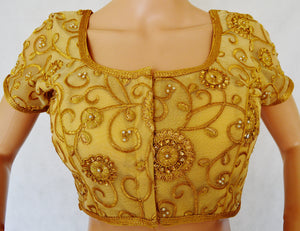 Gold lace Blouse Size 34