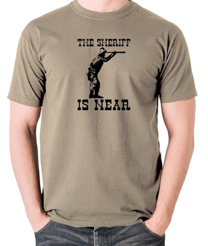 Blazing Saddles - The Sheriff Is Near - Men's T Shirt - khaki