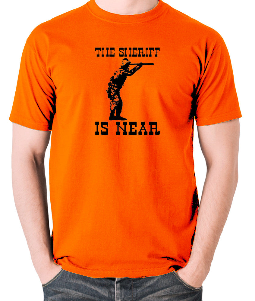 Blazing Saddles - The Sheriff Is Near - Men's T Shirt - orange