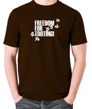 Citizen Smith, Robert Lindsay - Freedom For Tooting - Men's T Shirt - chocolate