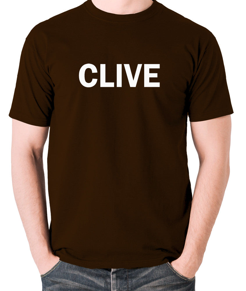 Derek And Clive - Peter Cook and Dudley Moore - Clive - Men's T Shirt - chocolate