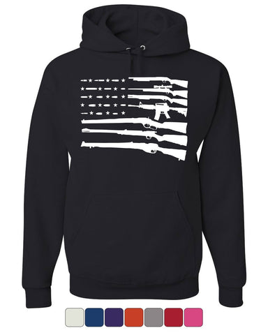 American Flag Guns 2nd Amendment Hoodie Gun Rights Sweatshirt