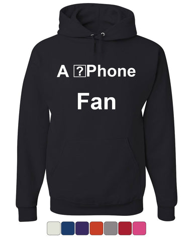 A ?Phone Fan Funny Hoodie Apple iPhone Fan Glitch iOS 11 Geek Sweatshirt