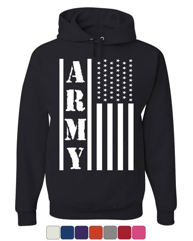 Army Flag Military Hoodie Patriot Veteran Stars & Stripes Honor Sweatshirt