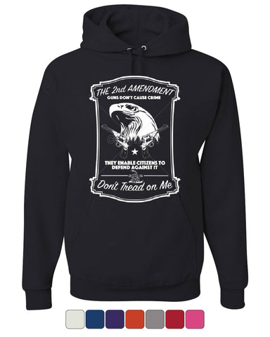 2nd Amendment Hoodie Guns Don't Cause Crime Sweatshirt - Tee Hunt - 1
