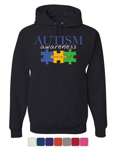 Autism Awareness Hoodie Accept Understand Love Inspire Support Sweatshirt