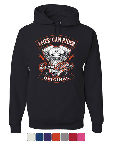 American Rider Hoodie Custom Made Motorcycle Route 66 Sweatshirt