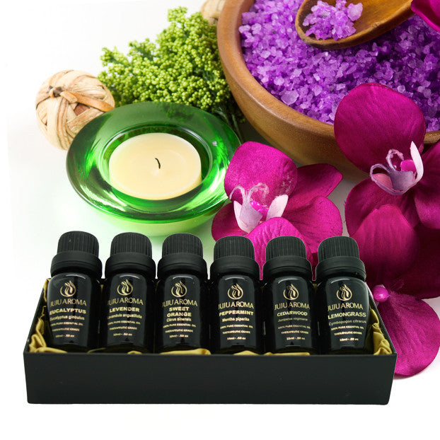 Aromatherapy BEST 6 100% Pure Therapeutic Grade Essential Oil Gift Set- 6/10 Ml (Lavender, Cedarwood, Eucalyptus, Lemongrass, Orange, Peppermint) Free eBook (6 OIL GIFT SET B)