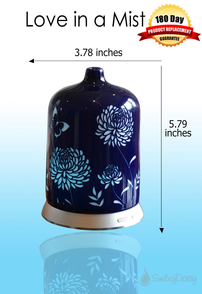 Aromatherapy Essential Oil Diffuser - Love in a Mist (Blue)