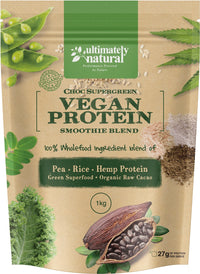 Choc Supergreens | Natural Vegan Protein Powder - Ultimately Natural