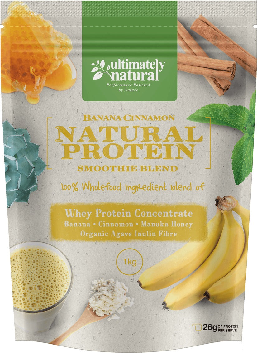 Banana Cinnamon | Natural Whey Protein Powder - Ultimately Natural