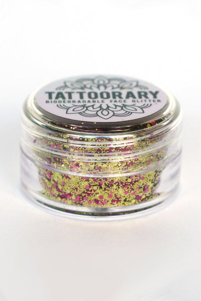 Biodegradable chunky face glitter in 'Rose Gold' - a temporary tattoo by Tattoorary
