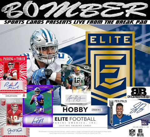 Last Case! 2019 Panini Donruss Elite Football 12 Box Case Break - Random Team #1 - Live 7/17/19