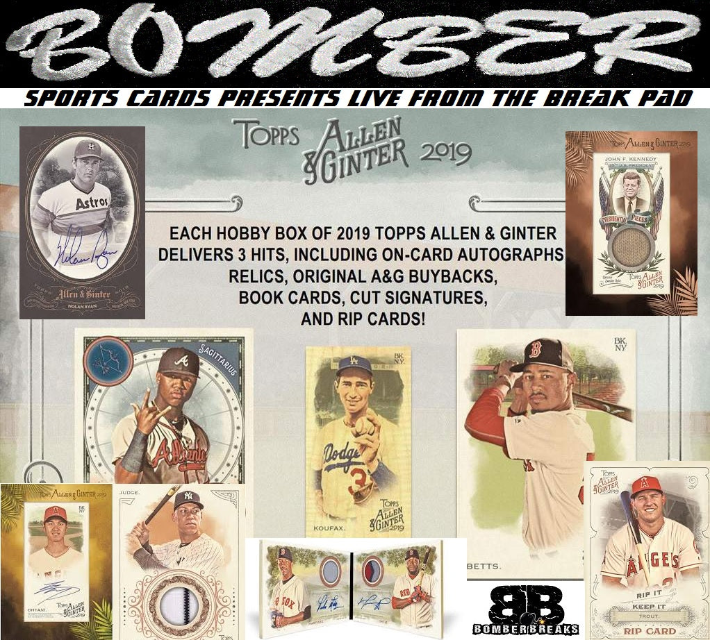 2019 Topps Allen & Ginter Baseball 12 Box Case Break - Pick Your Team #2 - Live 7/17/19