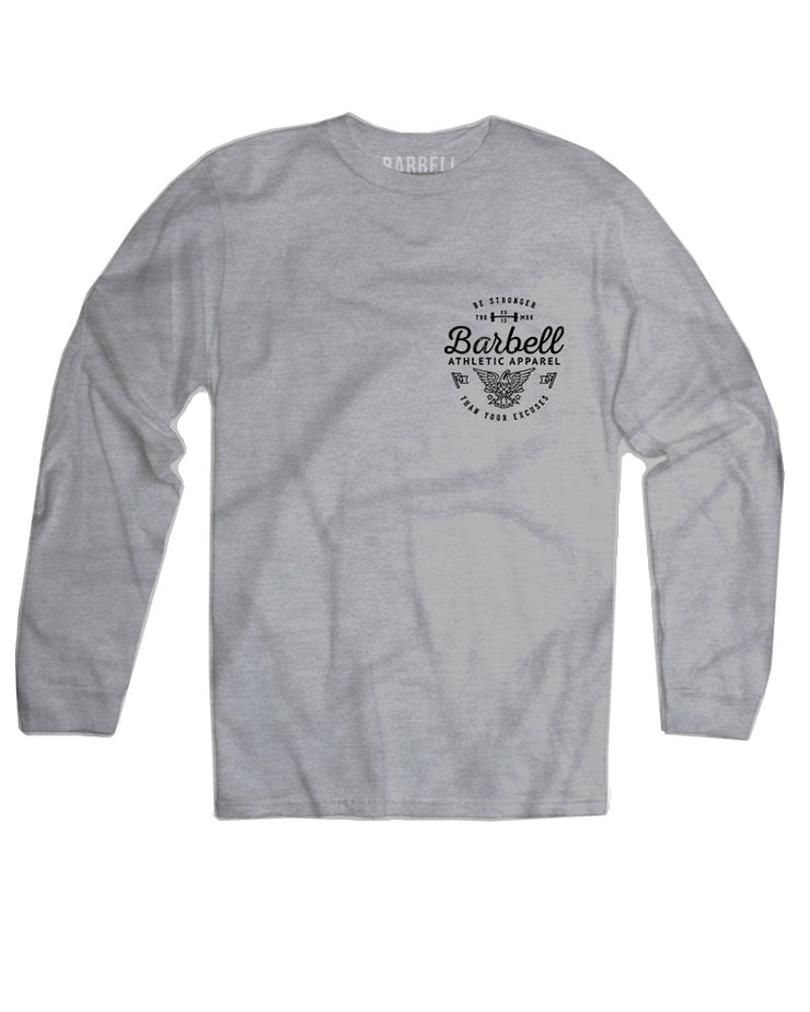 """Be Stronger"" Long Sleeve in Gray"