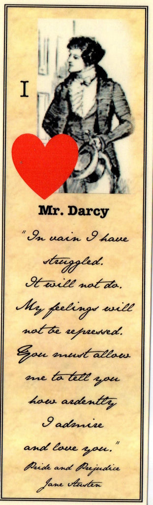 I Heart Mr. Darcy Bookmark