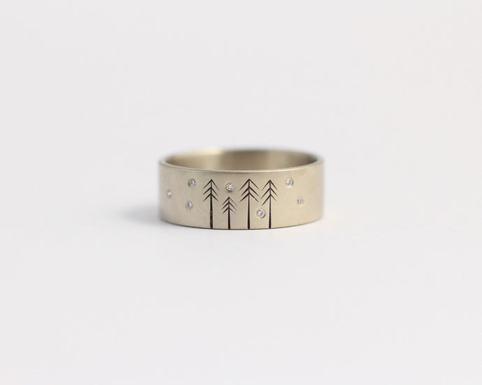 Snow on Pines Ring, [product_type} - Ash Hilton Jewellery