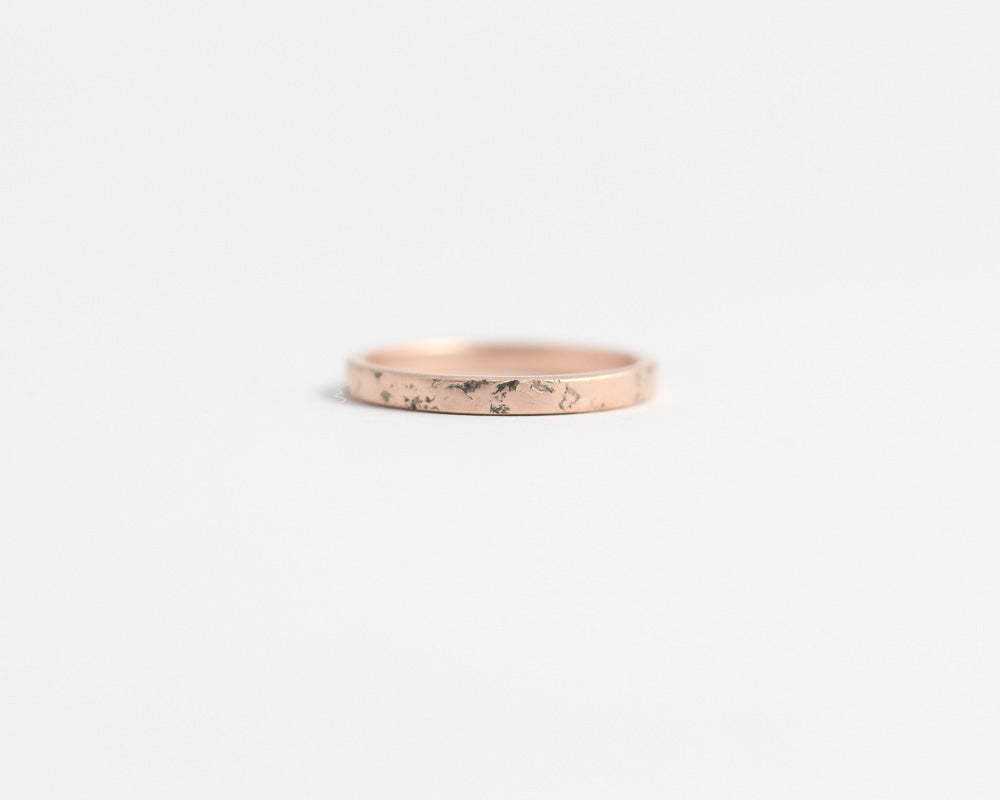 Distressed Band in Rose Gold - Narrow, [product_type} - Ash Hilton Jewellery