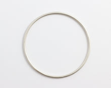 Round White Gold/Silver Bangle, [product_type} - Ash Hilton Jewellery