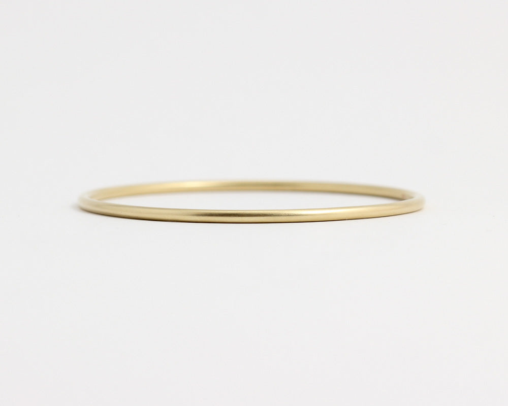 Round Yellow Gold Bangle, [product_type} - Ash Hilton Jewellery