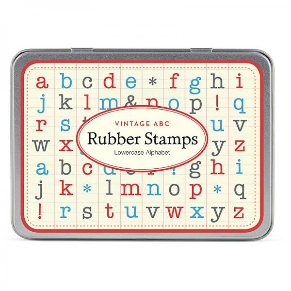 Alphabet Lowercase Rubber Stamp Set