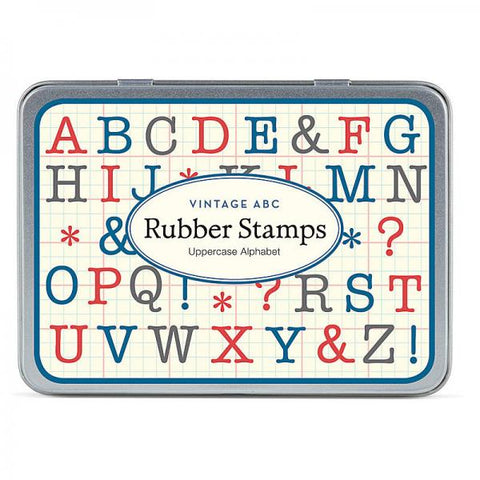 Alphabet Uppercase Rubber Stamp Set