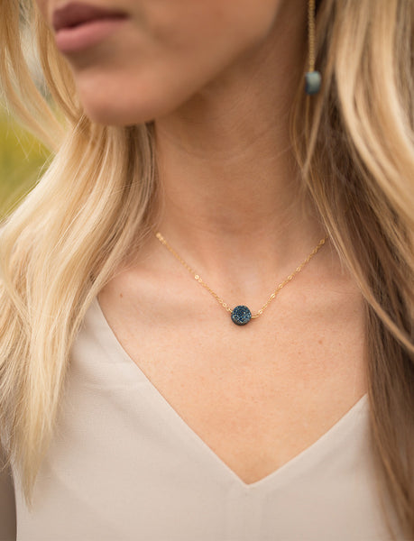 Necklaces - Estella Necklace Navy