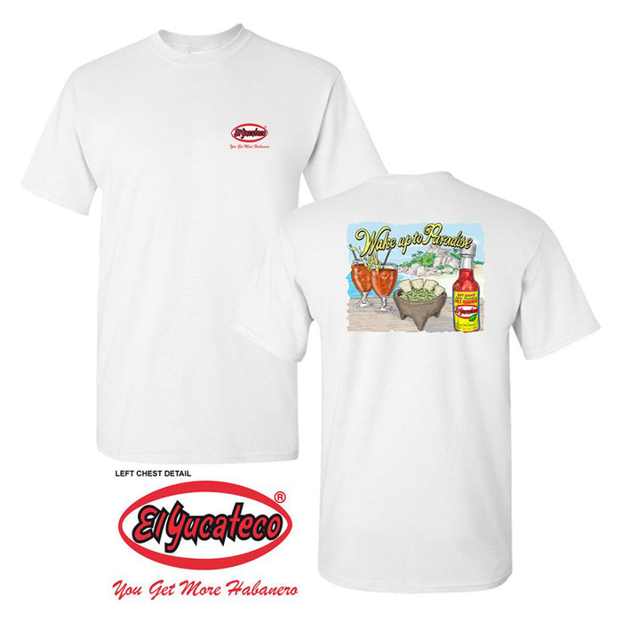 El Yucateco Limited Edition Cancun Short Sleeve Tee - Unisex - White
