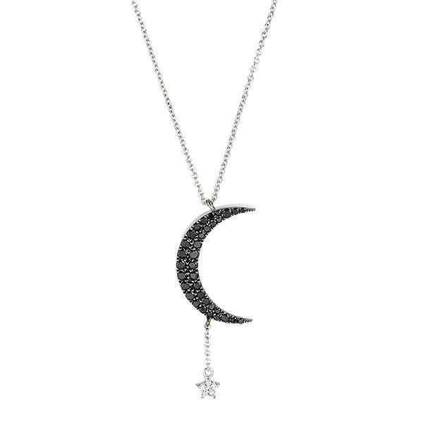 diamond crescent moon and star necklace