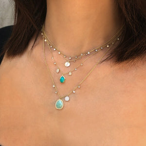 turquoise diamond necklace