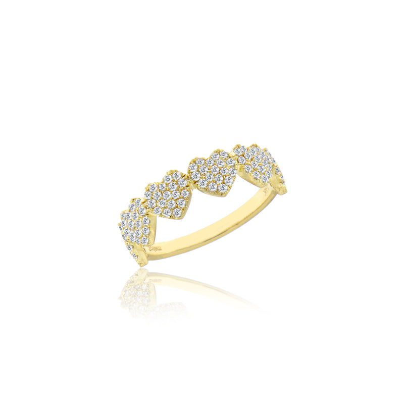 heart shaped diamond eternity band