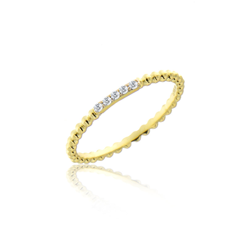Meira T diamond ball ring