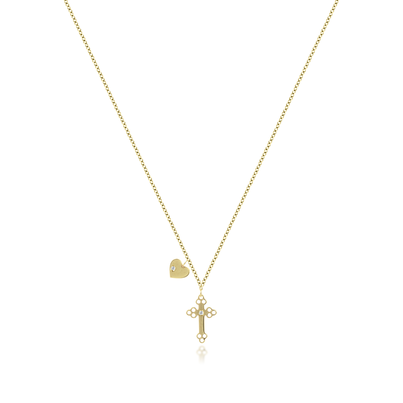 Charm Cross Necklace