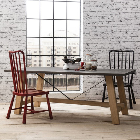 Chilson Large Trestle Dining Table by Hudson Living
