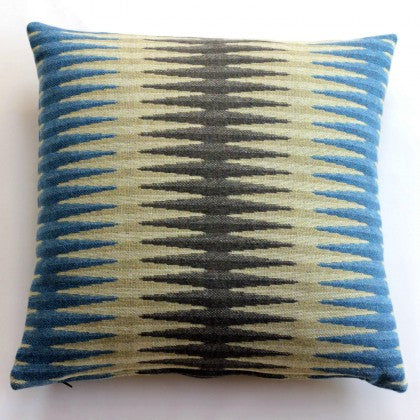 Beacon Cushion in Turquoise by Chalk Wovens