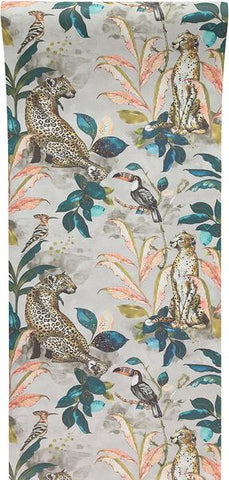 Cheetah Wallpaper in Taupe by Laura Hyden