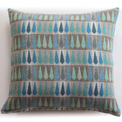 Fern Cushion in Turquoise by Chalk Wovens