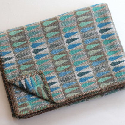 Fern Throw in Turquoise by Chalk Wovens