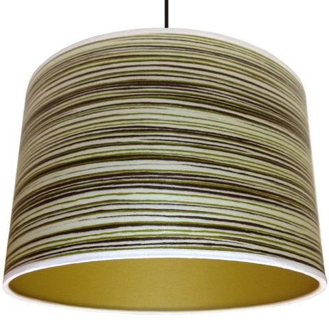 Green Stripe Drum Lampshade by Storm Furniture