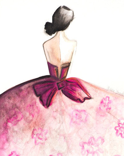 Pink Couture Floral Gown